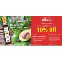 Niharti at the Just V Show -  Vegan & Vegetarian exhibition